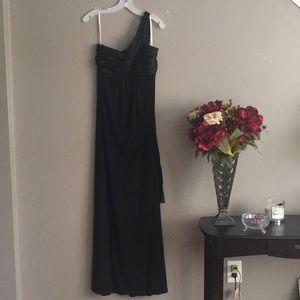David's Bridal Long Black Dress